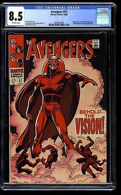 Avengers #57 CGC VF+ 8.5 Off White Marvel Comics Thor Captain America