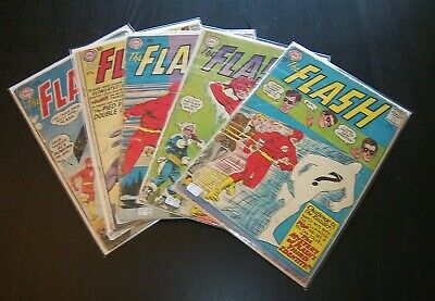 The Flash Lot / 5 Comics 113 138 139 140 141 - Key Silver Age Issues 1960 - 1963