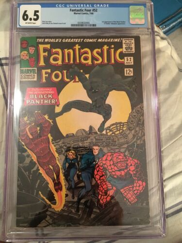 Fantastic Four 52 1st Appearance Of The Black Panther 6.5 CGC Cracked Case**