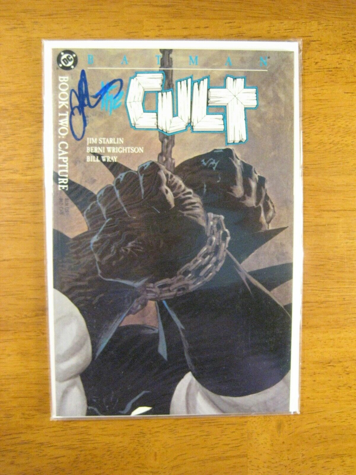 Wow BATMAN: THE CULT (Book 2) **SIGNED BY JIM STARLIN** (NM/NM-) Nice COA