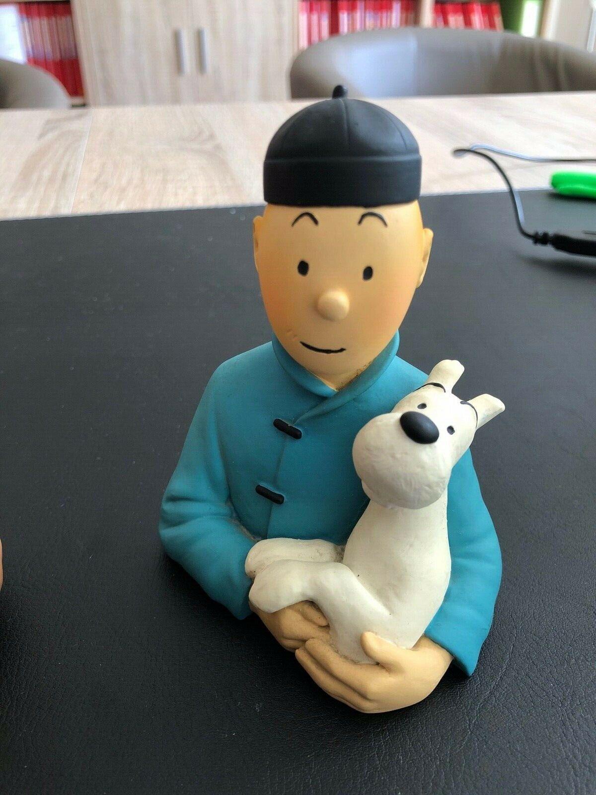 TINTIN PIXI REGOUT - Buste Tintin Lotus Bleu avec certificat vignette No Leblon