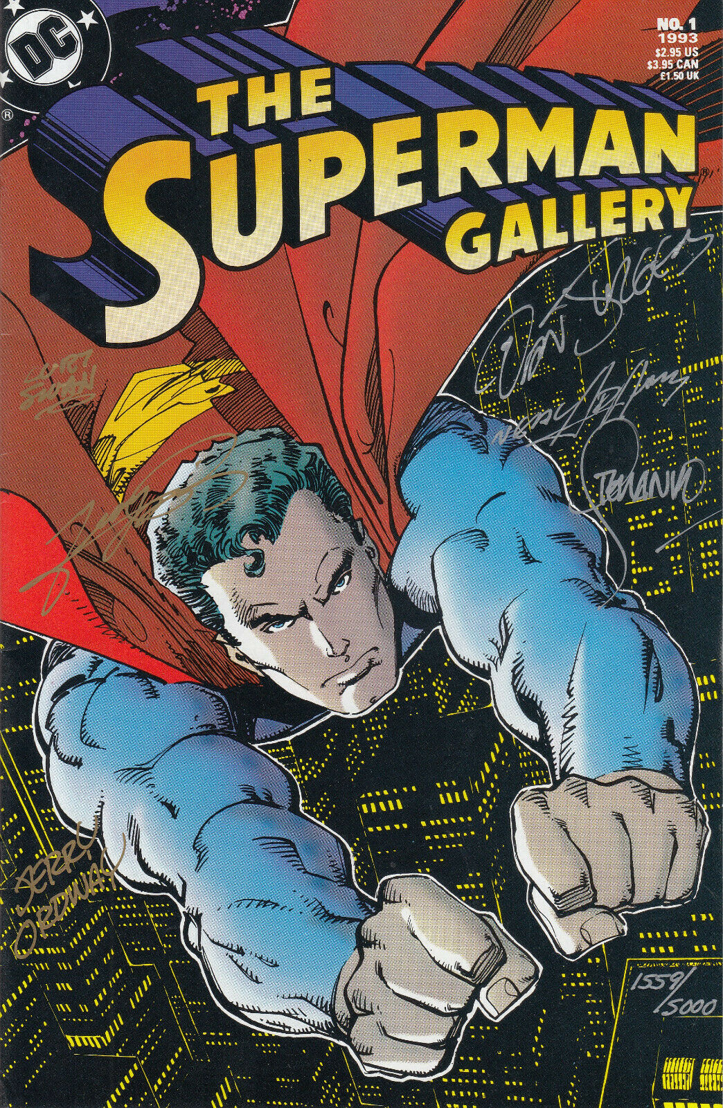 DC Comics Superman Gallery #1, Signed 6x, George Perez, Neal Adams, Curt Swan