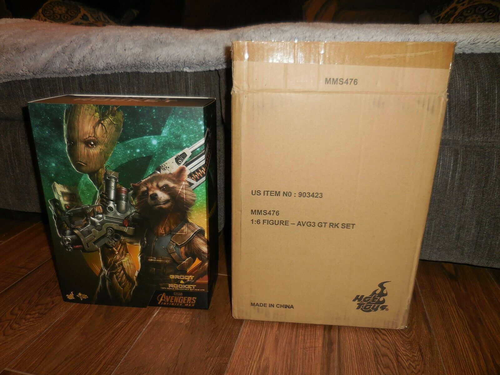 Hot Toys ROCKET & GROOT Exclusive Avengers Guardians 1/6th Scale Figure