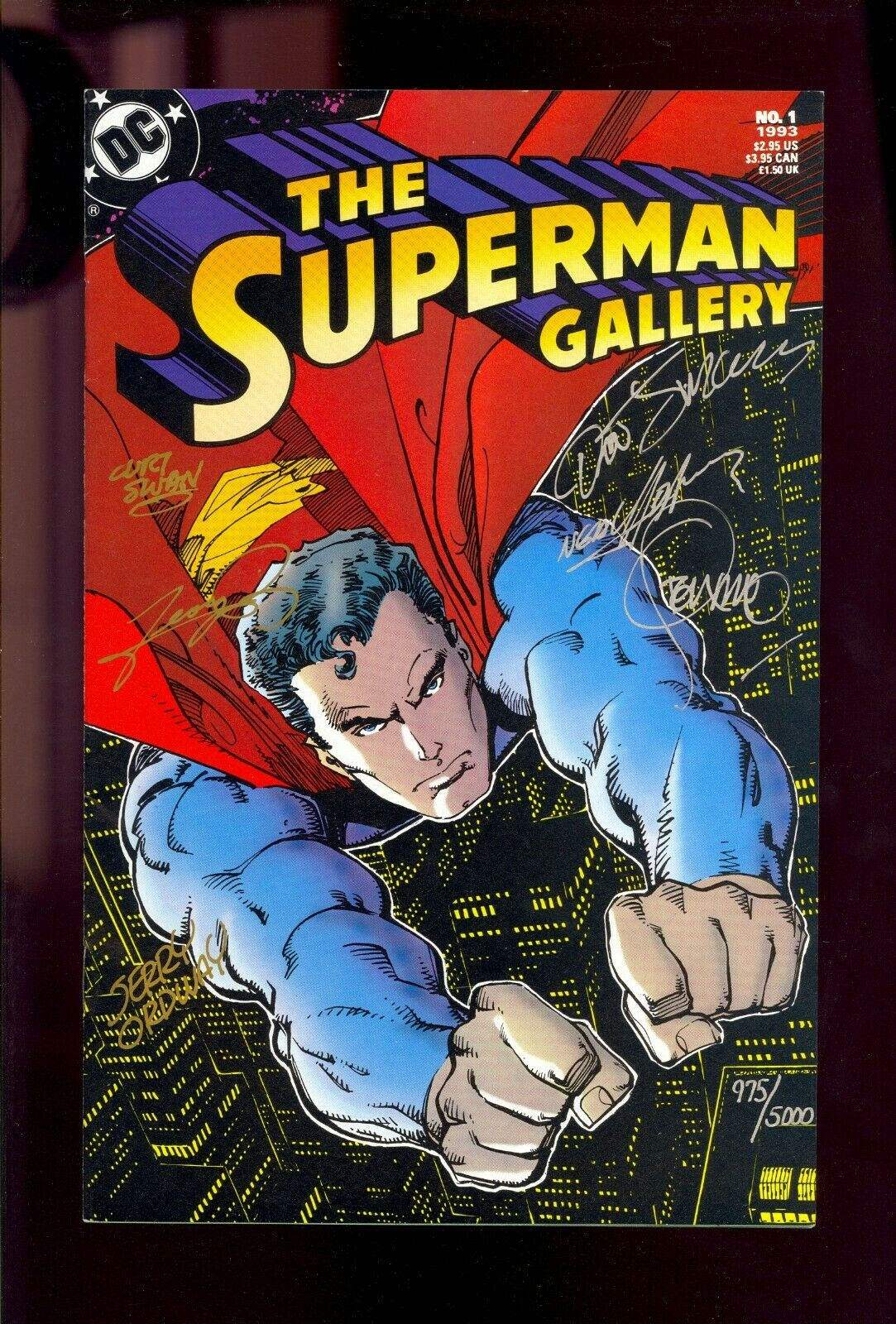 SUPERMAN GALLERY #1 SIGNED /5000 by STERANKO NEAL ADAMS SWAN PEREZ++ COMIC KINGS