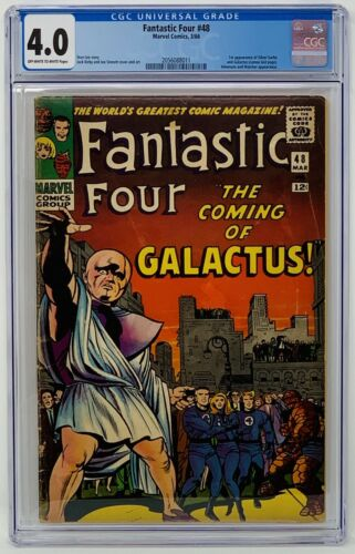 Fantastic Four #48 CGC 4.0 Marvel 1966. First App of Silver Surfer & Galactus.