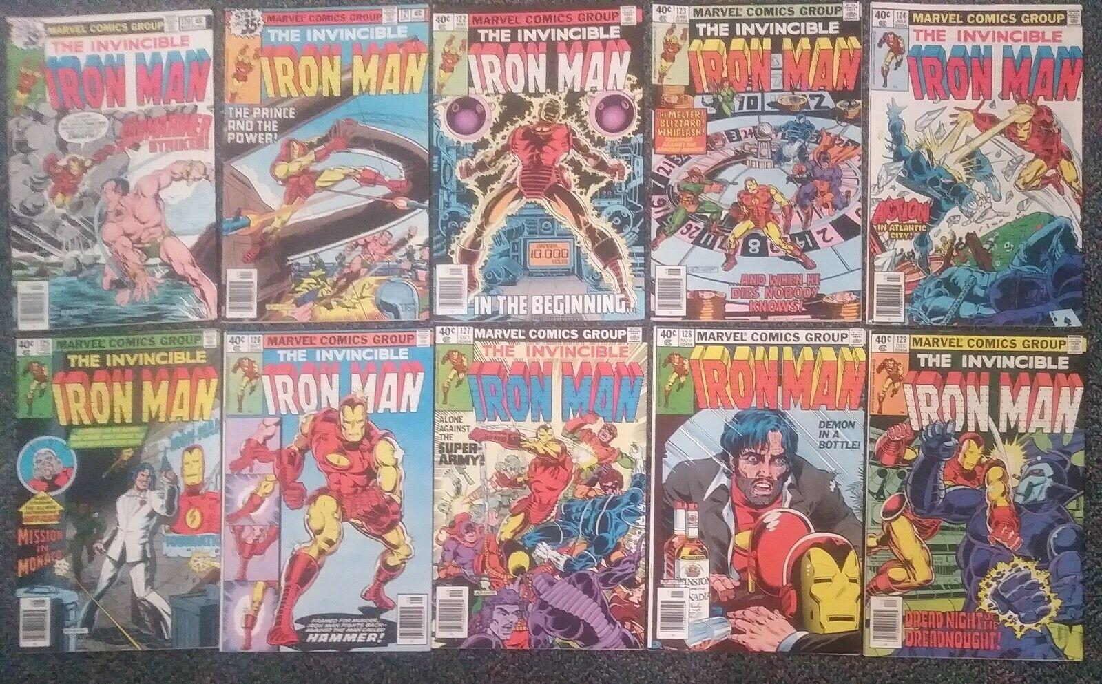 Iron Man Lot - 120, 121, 122, 123, 124, 125, 126, 127, 128, 129