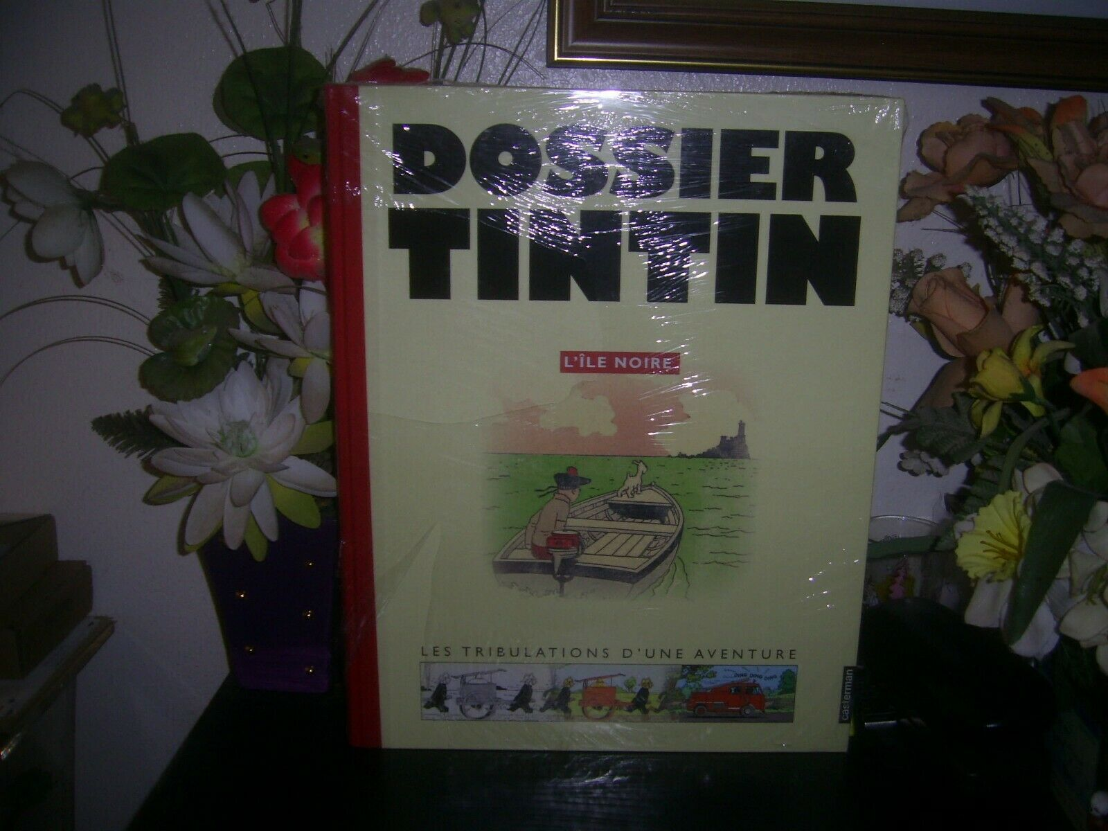 TINTIN  -  DOSSIER TINTIN  -  L 'ILE NOIRE   -  HERGE