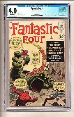 Fantastic Four #1 (CGC 4.0) O/W pages; Origin/1st app. FF and Mole Man (c#25823)