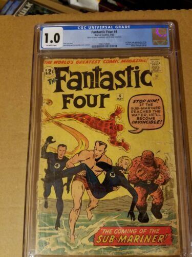 Fantastic Four #4 1962 comic CGC 1.0 100% COMPLETE first silver age namor