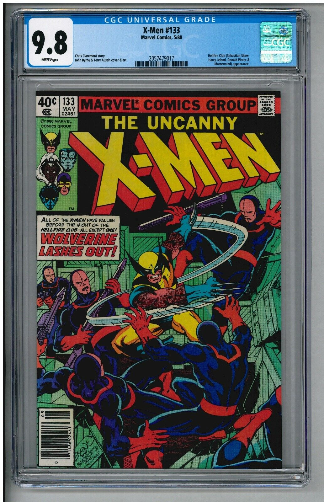 UNCANNY X-MEN 133 HIGHEST CGC 9.8 GRADE & WHITE PAGES NS VARIANT WOLVERINE 1980