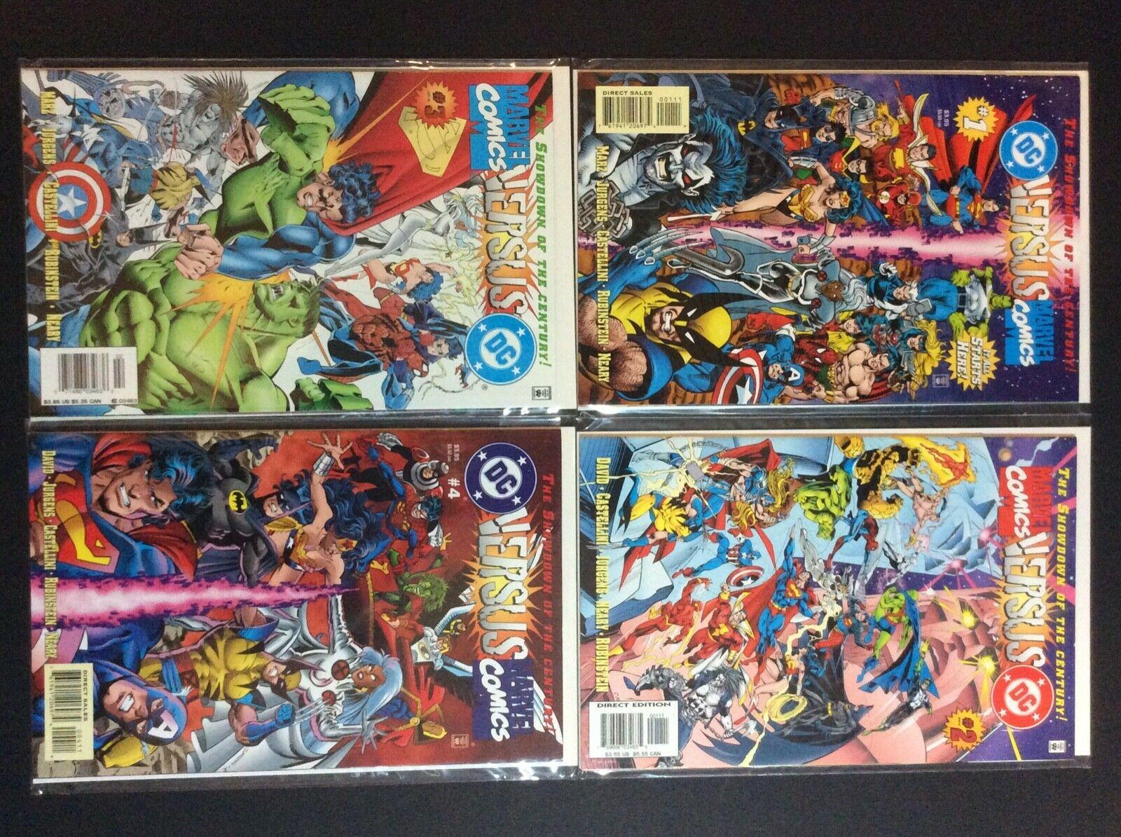 DC versus Marvel/Marvel versus DC comics 1996 #1 #2 #3 #4 Nice Nm