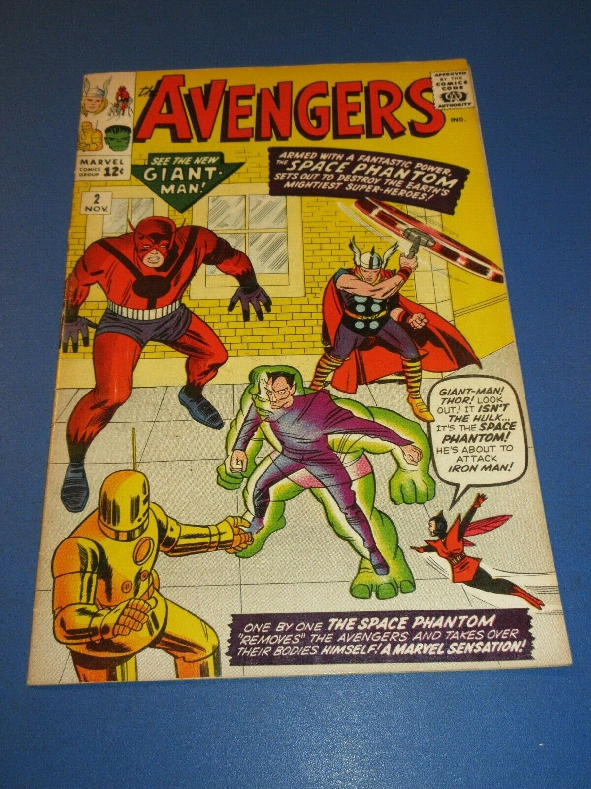 Avengers #2 Silver age Hulk Key Great Looking book missing Ad Page
