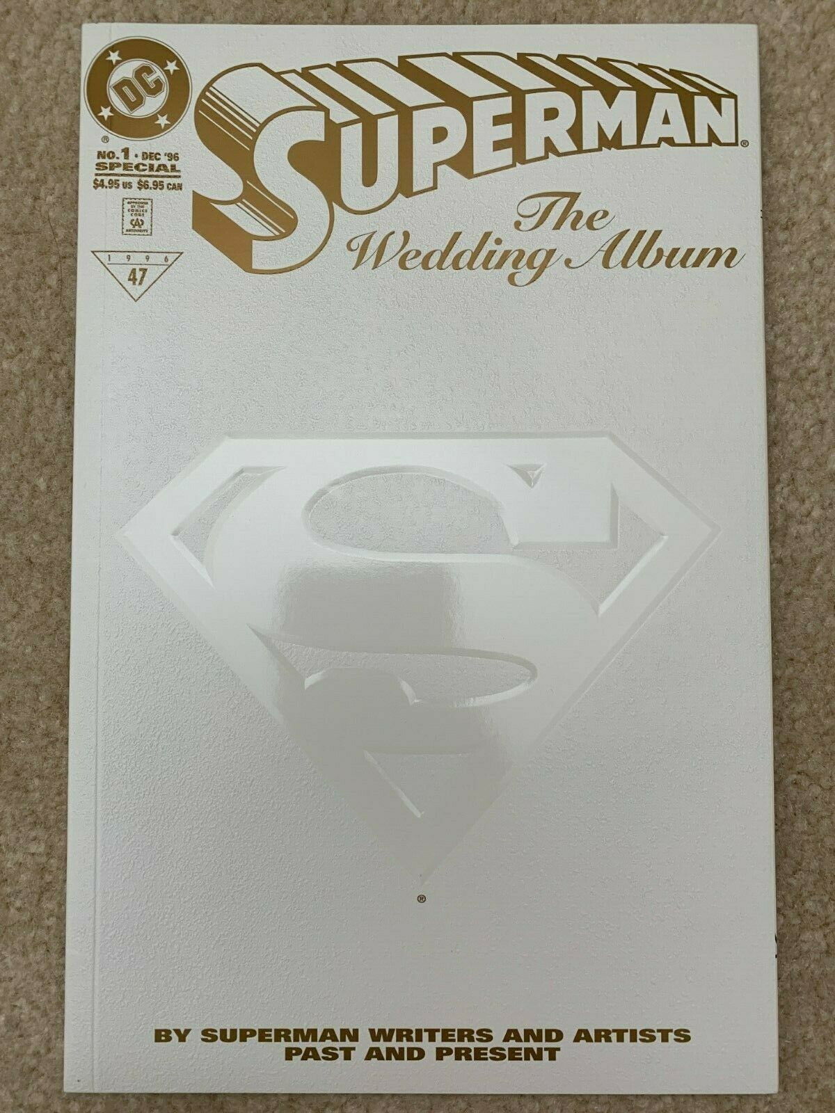SUPERMAN: THE WEDDING ALBUM #1 (1996) RRP Limited Gold Edition #73 of 250 RARE
