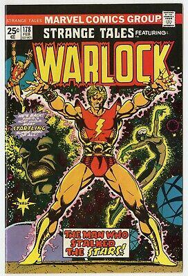 Strange Tales #178 NM+ 9.6 white pages  Origin Warlock Retold  Marvel  A  1975