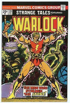 Strange Tales #178 NM+ 9.6 white pages  Origin Warlock Retold  Marvel  B  1975