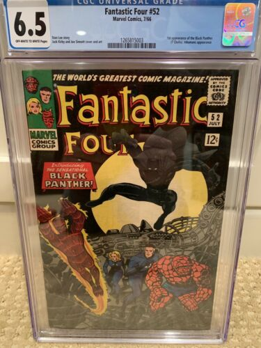 Fantastic Four #52 (Jul 1966, Marvel) Cgc 6.5 Black Panther First Appearance