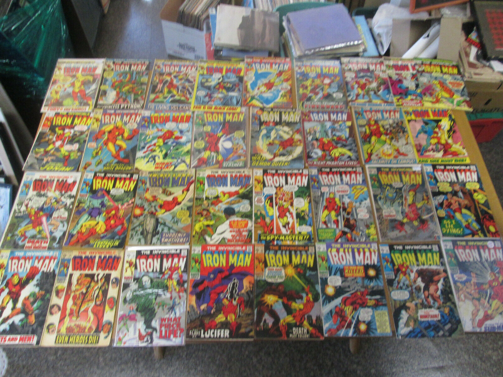 33 LOT OF THE INVINCIBLE IRON MAN #16#18#19#20#22#23#24#25#26#28#31#32#33+MORE