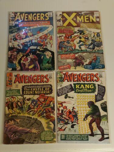 Marvel Comics Avengers 7 , Avengers  8, Avengers 13 and X-Men 9 bundle. All GD.