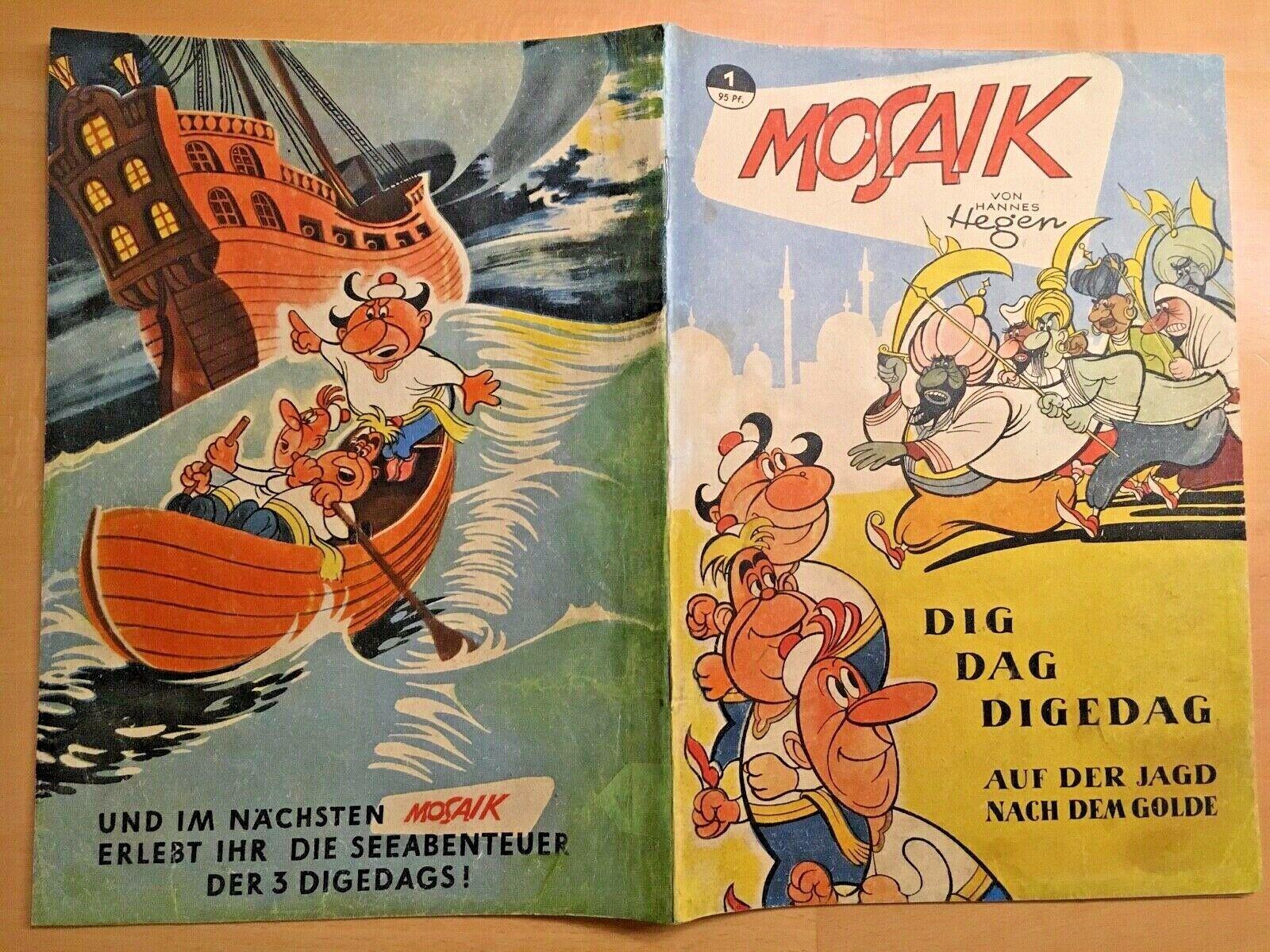 DIGEDAGS Mosaik Sammlung 1-229 KOMPLETT  Die Gelegenheit für ALLE ORIGINALE