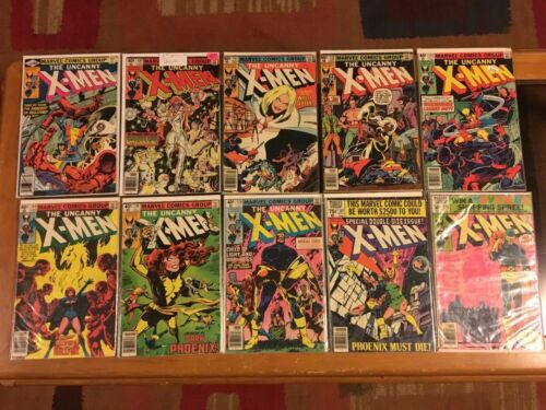 Uncanny X-men 129,130,131,132,133,134,135,136,137,138 Dark Phoenix Lot Run FN-VG