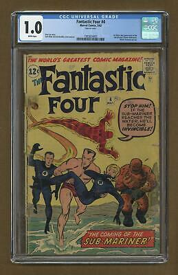 Fantastic Four #4 CGC 1.0 1962 1993824003 1st Silver age app. Sub-Mariner