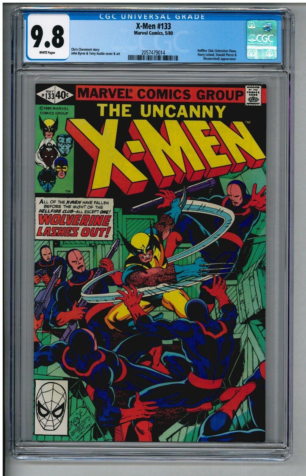 UNCANNY X-MEN 133 CGC 9.8 NM/MT WHITE PAGES 1st Solo WOLVERINE 5/1980 GPA=$475