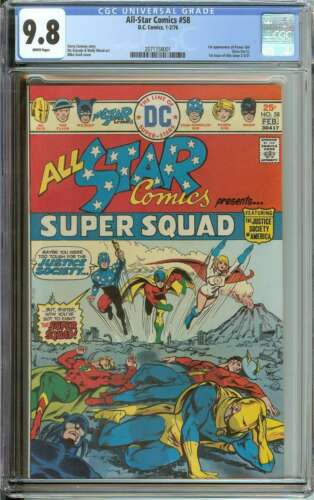 ALL-STAR COMICS #58 CGC 9.8 WHITE PAGES