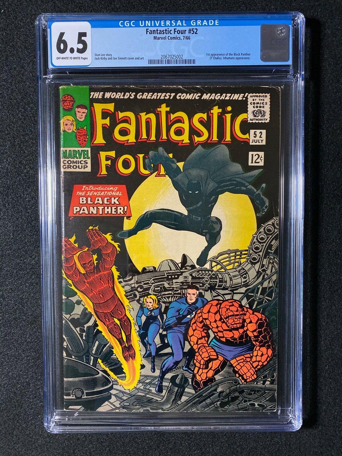 Fantastic Four #52 CGC 6.5 (1966) - 1st app of the Black Panter
