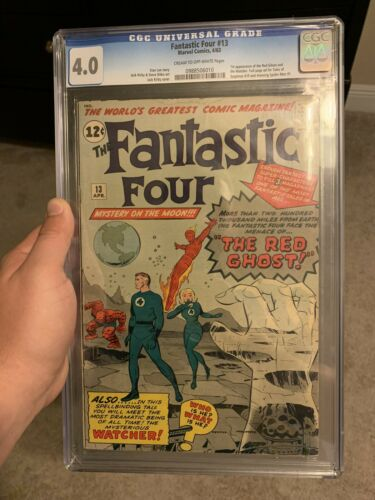 Fantastic Four #13 4.0 CGC First App Watcher and Red Ghost