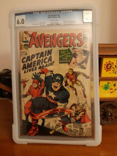 Avengers #4 Cgc 6.0 (1st Captain America Steve Rogers)