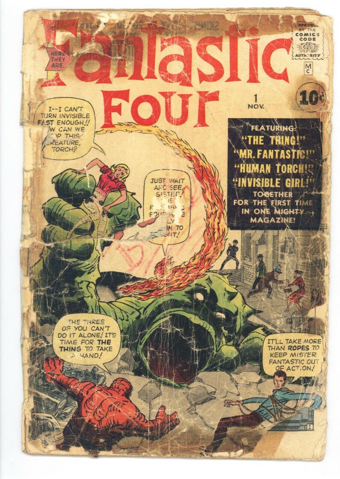 Fantastic Four #1 Original 1961 Low Grade 1st App of the Fantastic Four