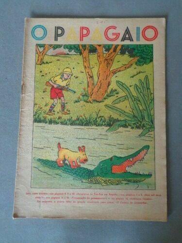 RARE Portuguese Vintage Comics Magazine O PAPAGAIO #215 1939 TINTIN TINTIM