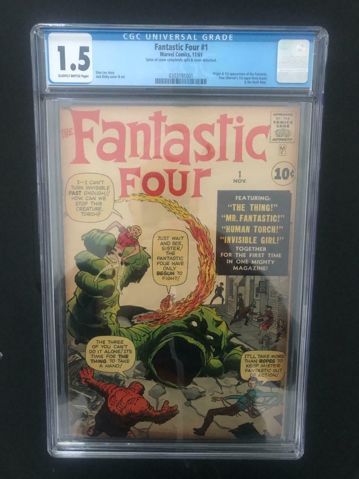 Fantastic Four #1 CGC 1.5  Origin & 1st Appearance of the Fantastic Four