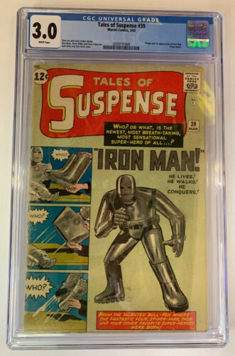 Tales Of Suspense #39 Marvel Comics 1963 CGC 3.0 1st Iron Man Appearance CLASSIC