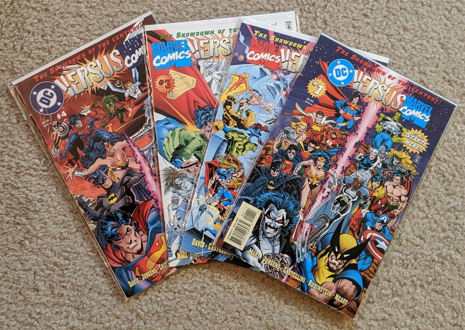 DC VERSUS MARVEL / MARVEL VERSUS DC #1 - 4 Complete Set (1996, DC, Marvel) NM