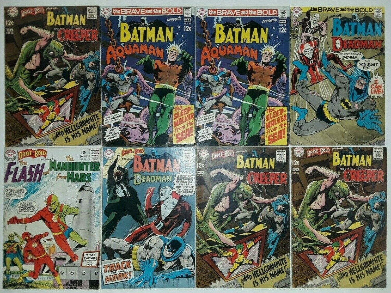 ?SILVER AGE LOT: BRAVE AND THE BOLD #56-120**41 COMICS**(1964, DC)**BATMAN**