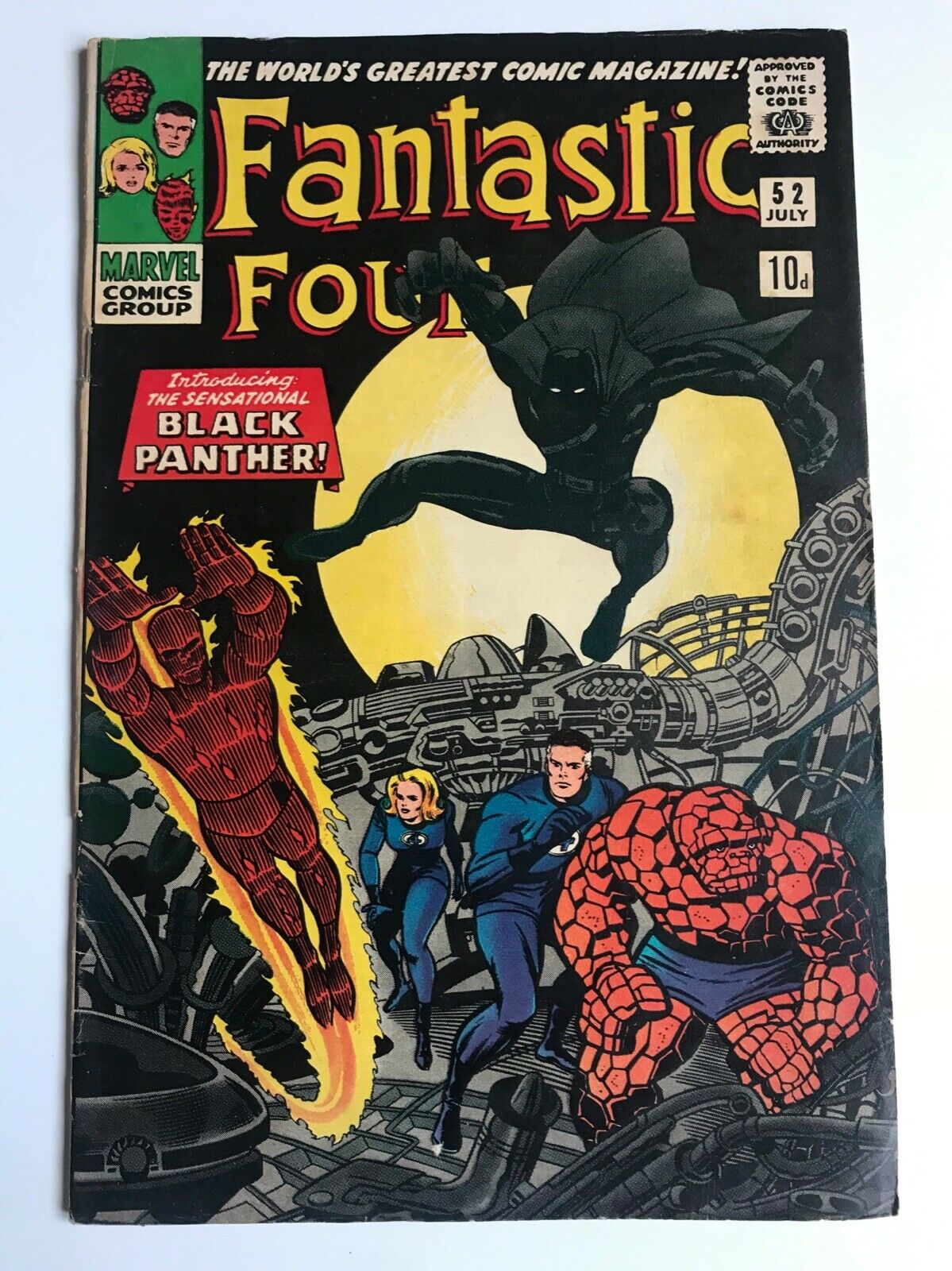 FANTASTIC FOUR # 52 - 1st Black Panther first app - silver age VG 4.0