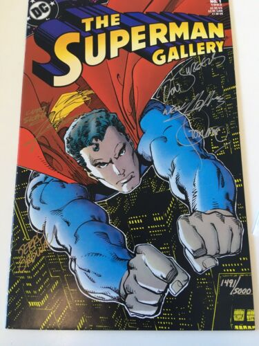 SUPERMAN GALLERY #1 SIGNED /5000 by STERANKO NEAL ADAMS SWAN PEREZ super artists
