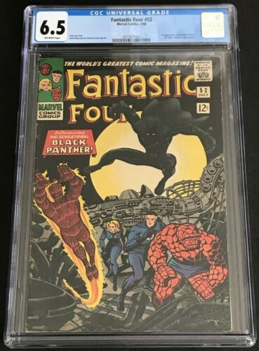 Fantastic Four #52 CGC 6.5 FN+ OW 1st Appearance Black Panther Presents Well