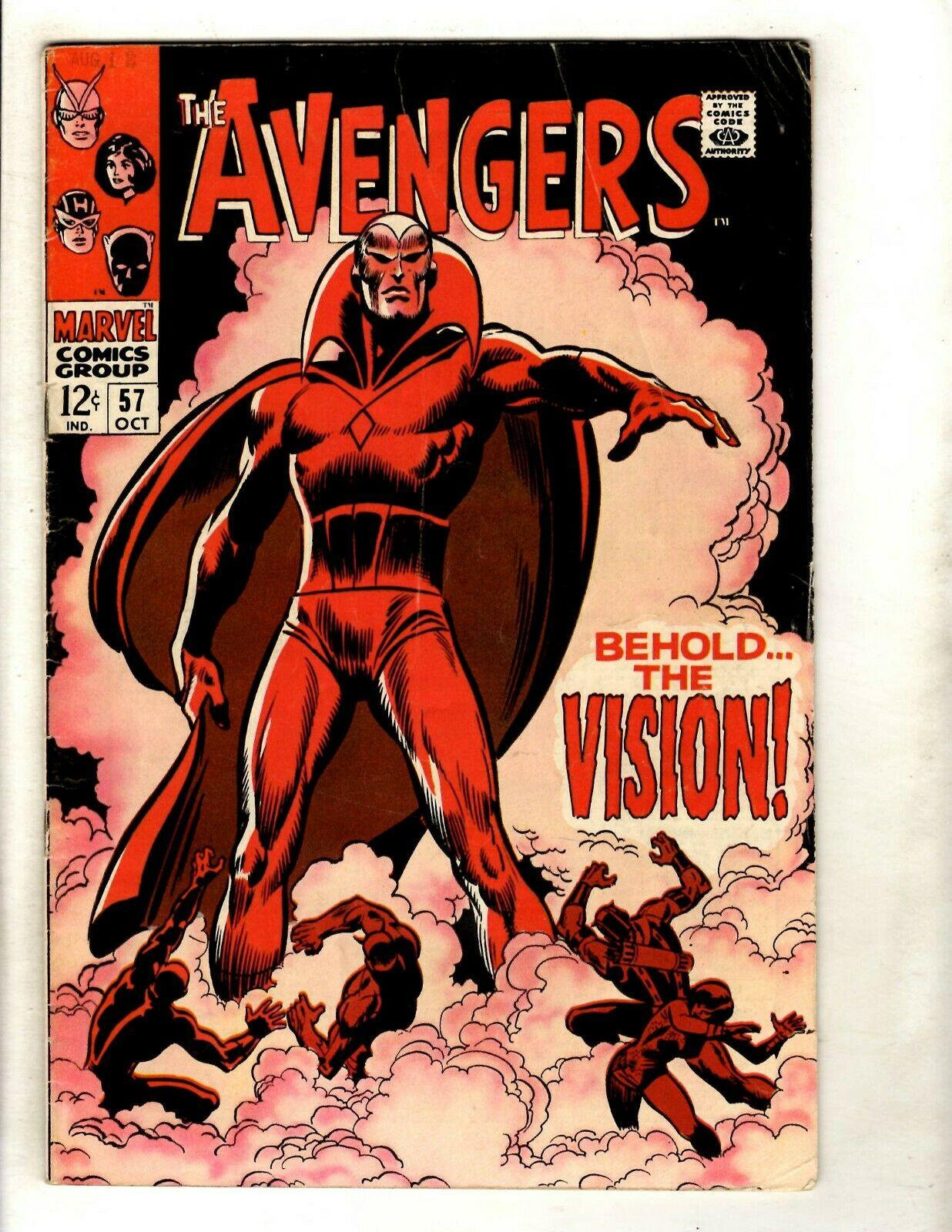 Avengers # 57 FN- Marvel Comic Book Hulk Thor Iron Man Captain America GK2