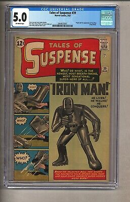 Tales of Suspense 39 (CGC 5.0) O/W pages; 1st app Iron Man 1963 Marvel (c#26519
