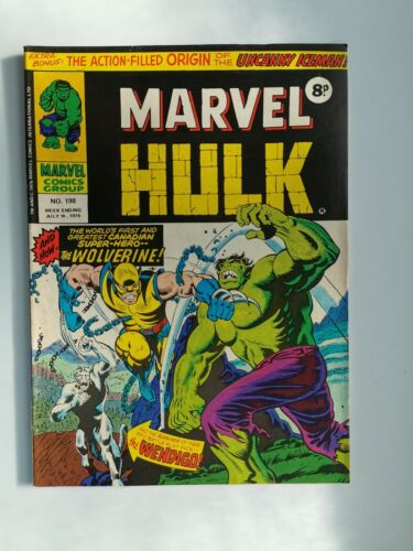 Mighty World Of Marvel MWOM 198 Hulk 181 1st App Wolverine In UK Unaltered cover