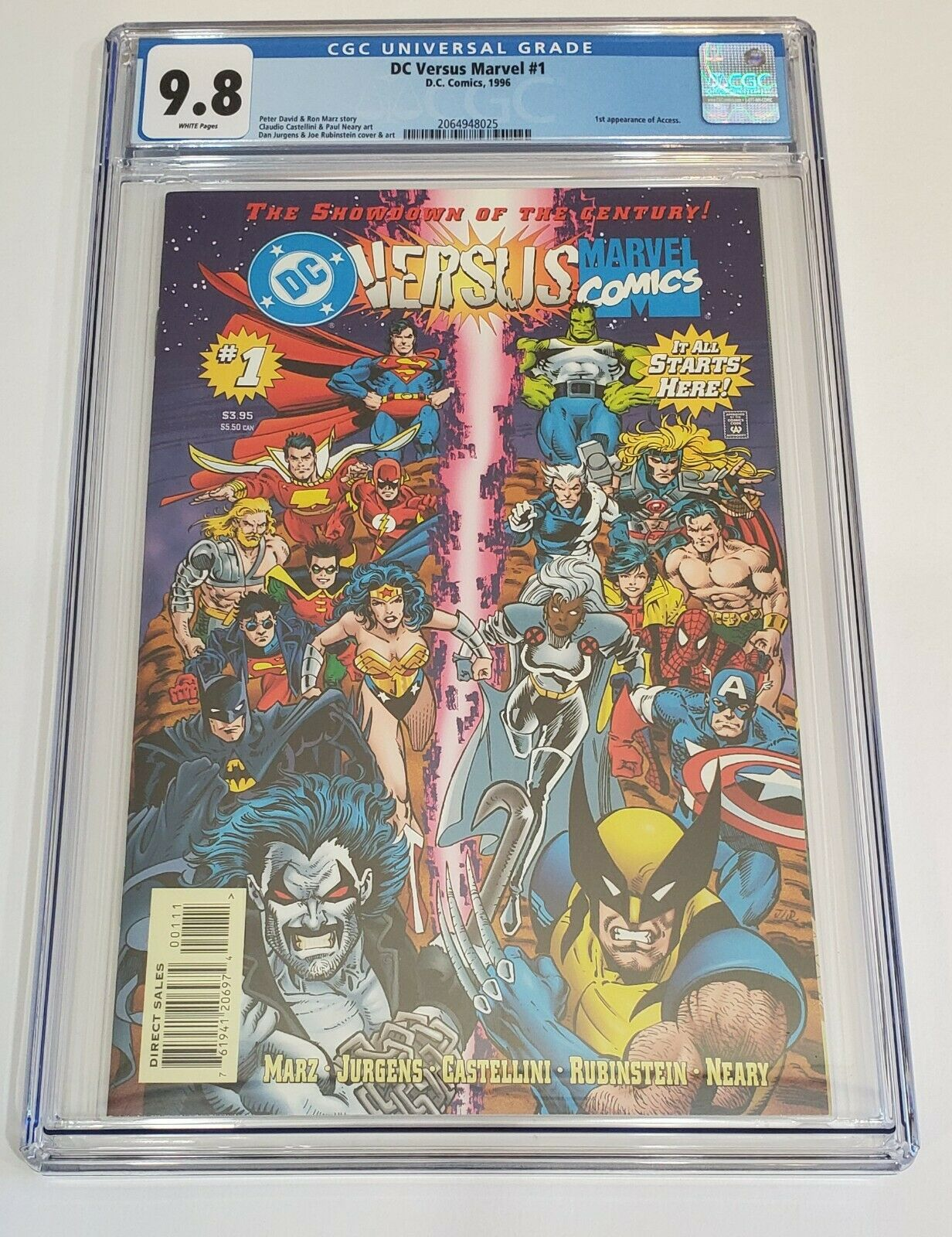 Marvel Versus DC 1996 Complete Limited Series 1-4 CGC 9.8 White Pages