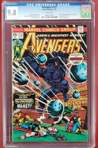 Avengers #137 cgc 9.8  White Pages Thor Iron man Captain America Beast