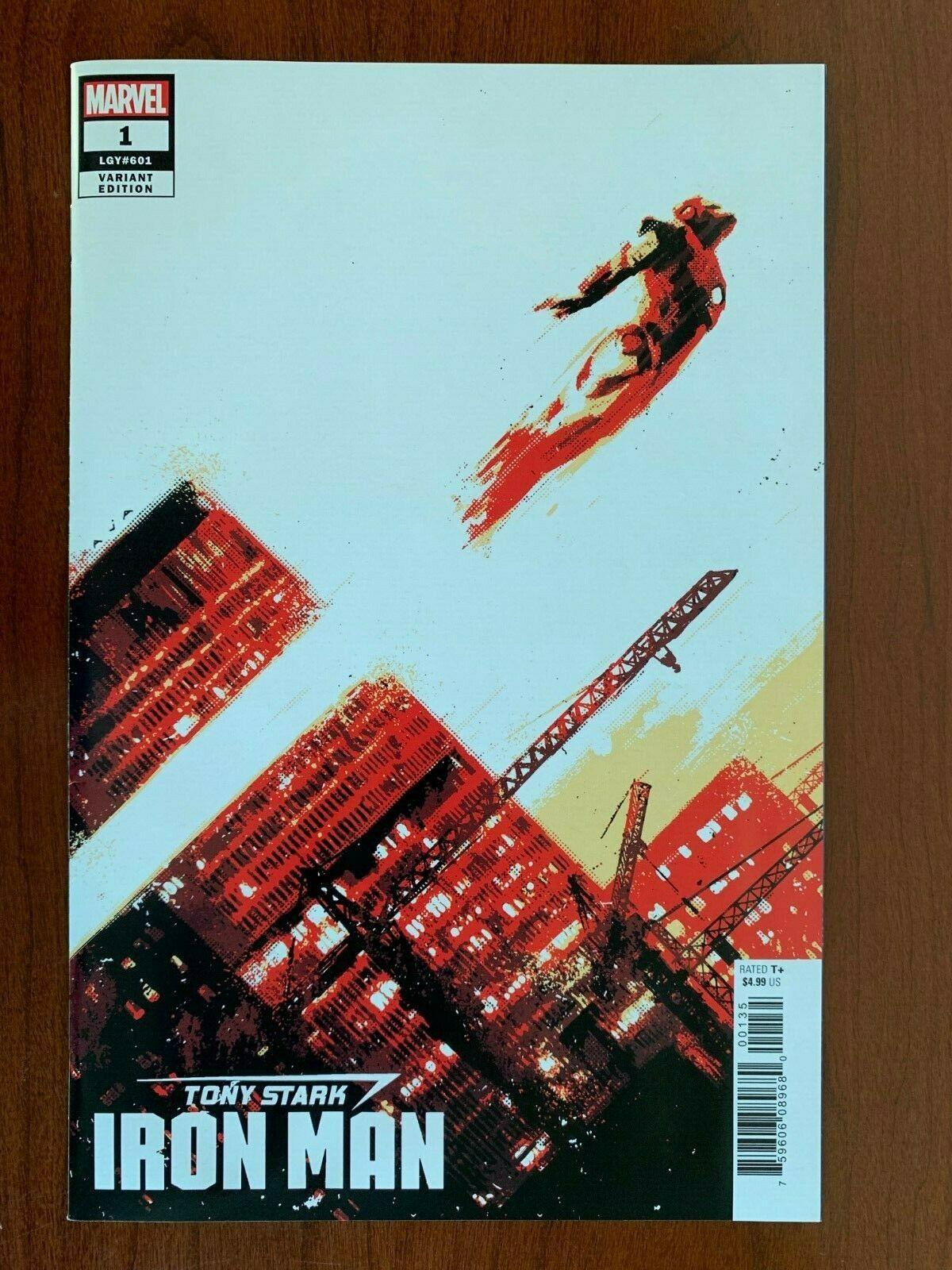 MARVEL Tony Stark Iron Man #1 David Aja 1:100 Incentive Variant (2018) NM