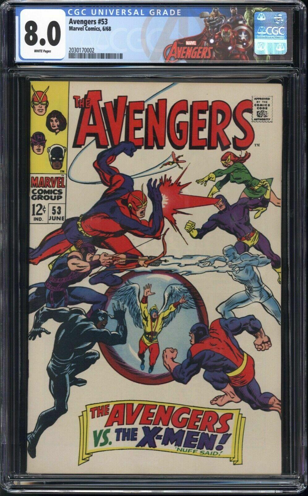 Avengers #53 CGC 8.0 Avengers Vs. X-Men (Special Avengers Label) White Pages