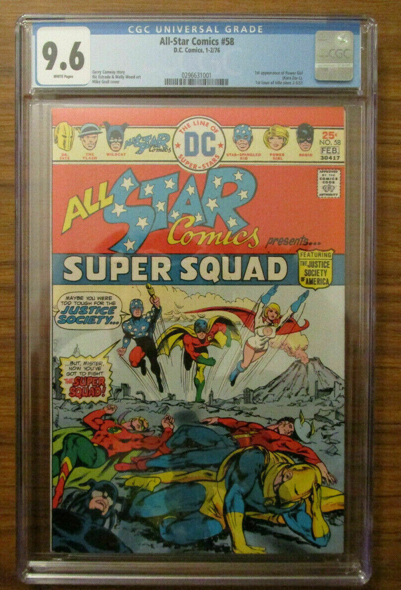 All-Star Comics #58 (1976) DC CGC 9.6 White 1st Appearance of Power Girl