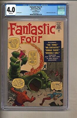 Fantastic Four #1 (CGC 4.0) White pages; Golden Record Reprint; 1966 (c#26959)