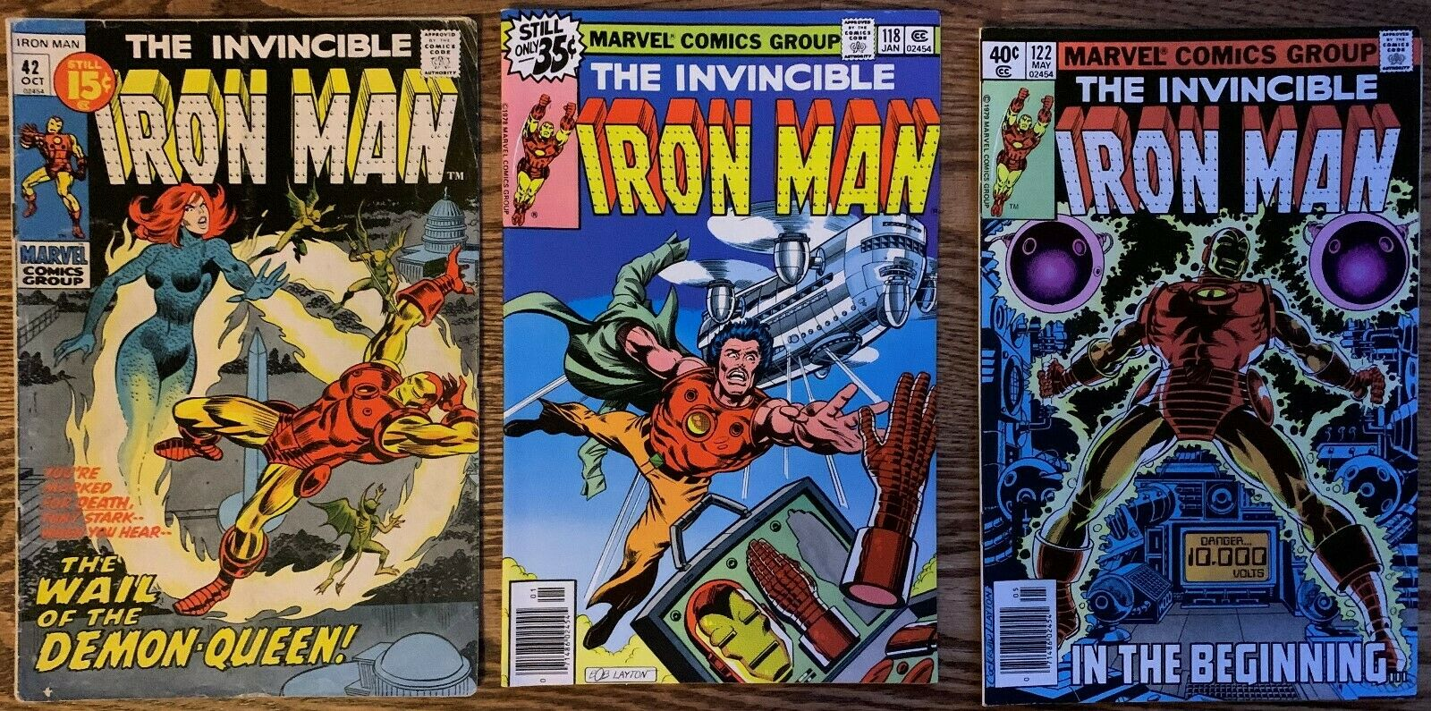 MARVEL IRON MAN 1971-1979 42, 118, 122-131 COMPLETE RUN :: AVERAGE GRADE F/VF