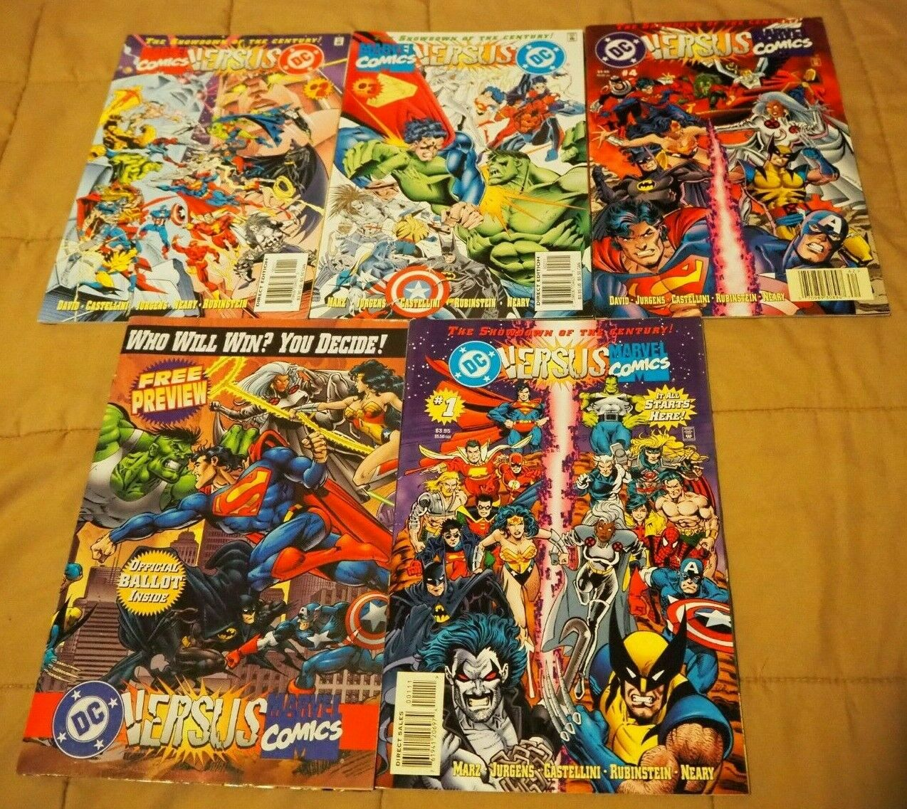 Marvel Versus DC 1-4 complete full run set lot DC vs Marvel vs DC Versus Marvel